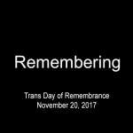 2017 Trans Day of Remembrance