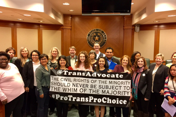 TransAdvocate at the Texas Capitol: NO 'BATHROOM BILLS'